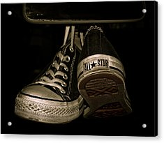 Hanging With Chuck Acrylic Print by Valerie Morrison