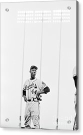 Hank Aaron On The Field, 1958 Acrylic Print by The Harrington Collection