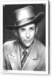 Hank Williams Acrylic Print by Greg Joens
