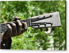 Hank Williams Hand And Guitar Acrylic Print