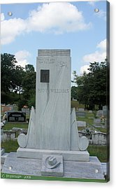 Hank Williams Sr. Headstone Acrylic Print by Carolyn Postelwait