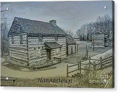 Hannastown Log Cabin Two Acrylic Print