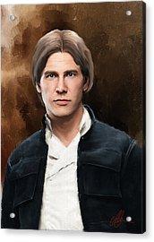 Hans Solo Star Wars  Acrylic Print by Michael Greenaway