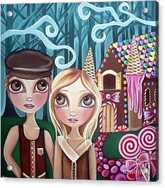 Hansel And Gretel Acrylic Print by Jaz Higgins