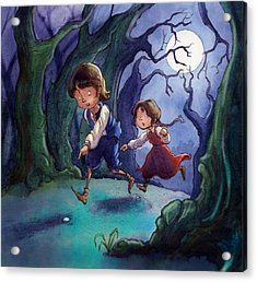 Hansel And Gretel Pebbles Acrylic Print