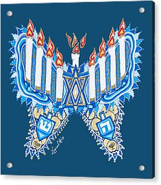 Hanukkah Butterfly Acrylic Print