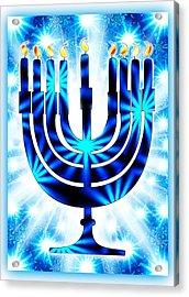 Hanukkah Greeting Card Ix Acrylic Print by Aurelio Zucco
