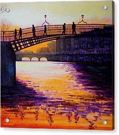 Ha'penny Bridge Dublin Acrylic Print