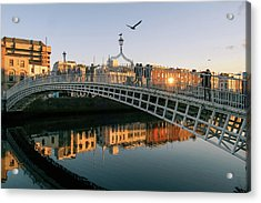Ha'penny Bridge Acrylic Print