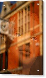happier Lucy Acrylic Print by Jez C Self