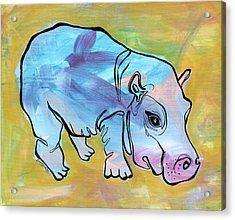 Happily Hippo Acrylic Print