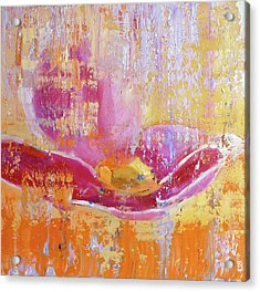 Acrylic Print featuring the painting Happiness by Eva Konya