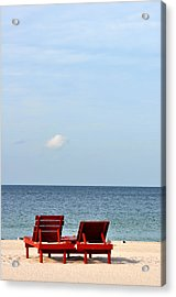 Happiness Is A Beach Acrylic Print by Rose  Hill