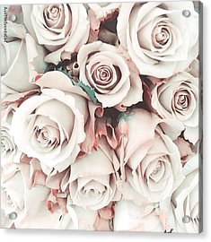 Happiness Is A Big Bunch Of #roses Acrylic Print