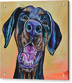 Acrylic Print featuring the painting Happiness Is A Dog by Patti Schermerhorn