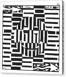 Happiness Is An Illusion Maze Acrylic Print by Yonatan Frimer Maze Artist