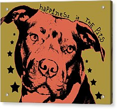 Happiness Is The Pits Acrylic Print by Dean Russo