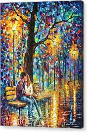Happiness   Acrylic Print by Leonid Afremov