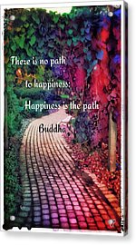 Happiness Path Acrylic Print