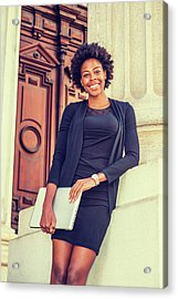 Happy African American College Student Acrylic Print