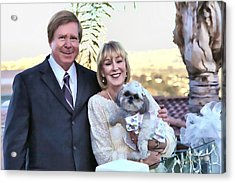 Happy Anniversary Ron And Barb Acrylic Print by Kathy Tarochione