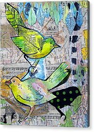 Happy Birds Acrylic Print