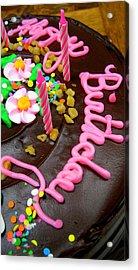 Happy Birthday Chocolate Cake Acrylic Print