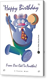 Happy Birthday Poster Acrylic Print by James Maltese