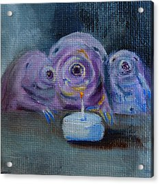 Acrylic Print featuring the painting Happy Birthday Water Bear You Are Loved by Jessmyne Stephenson