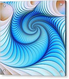 Happy Blue Acrylic Print by Anastasiya Malakhova