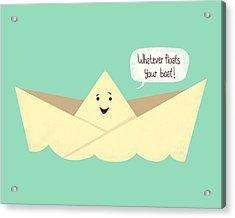 Happy Boat Acrylic Print