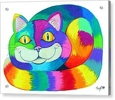 Happy Cat Acrylic Print