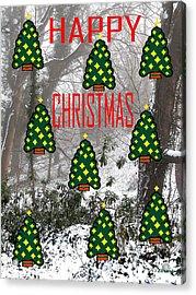 Happy Christmas 22 Acrylic Print by Patrick J Murphy