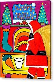 Happy Christmas 30 Acrylic Print by Patrick J Murphy