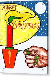 Happy Christmas 85 Acrylic Print by Patrick J Murphy