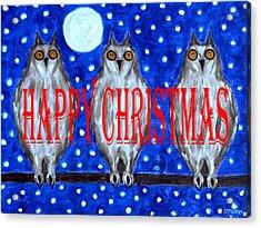 Happy Christmas 94 Acrylic Print by Patrick J Murphy