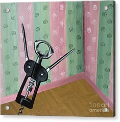 Happy Corkscrew Acrylic Print by Gina Watkins - Soo Hoo