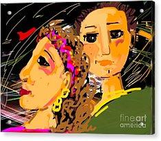Happy Couple Acrylic Print by Elaine Lanoue