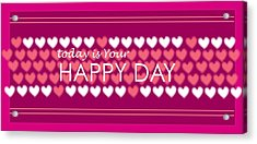Happy Day Acrylic Print by Hye Ja Billie