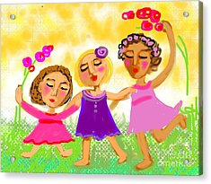 Happy Days Acrylic Print by Elaine Lanoue