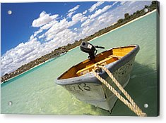 Acrylic Print featuring the photograph Happy Dinghy by T Brian Jones