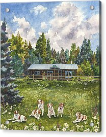 Happy Dogs Acrylic Print