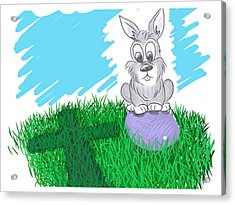 Acrylic Print featuring the digital art Happy Easter by Antonio Romero