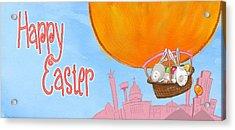 Happy Easter Balloon Acrylic Print