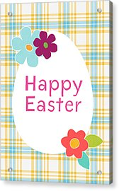 Happy Easter Egg- Art By Linda Woods Acrylic Print