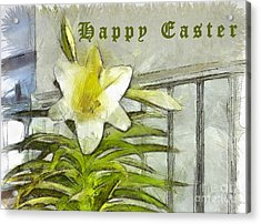 Acrylic Print featuring the photograph Happy Easter Lily by Claire Bull