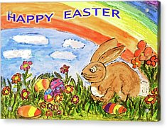 Happy Easter Acrylic Print by Monica Engeler
