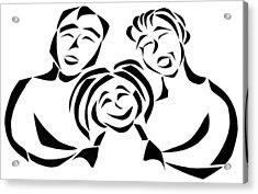 Happy Family Acrylic Print by Delin Colon