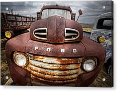 Happy Ford Acrylic Print by Debra and Dave Vanderlaan