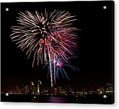 Happy Fourth Of July Acrylic Print by Thanh Thuy Nguyen